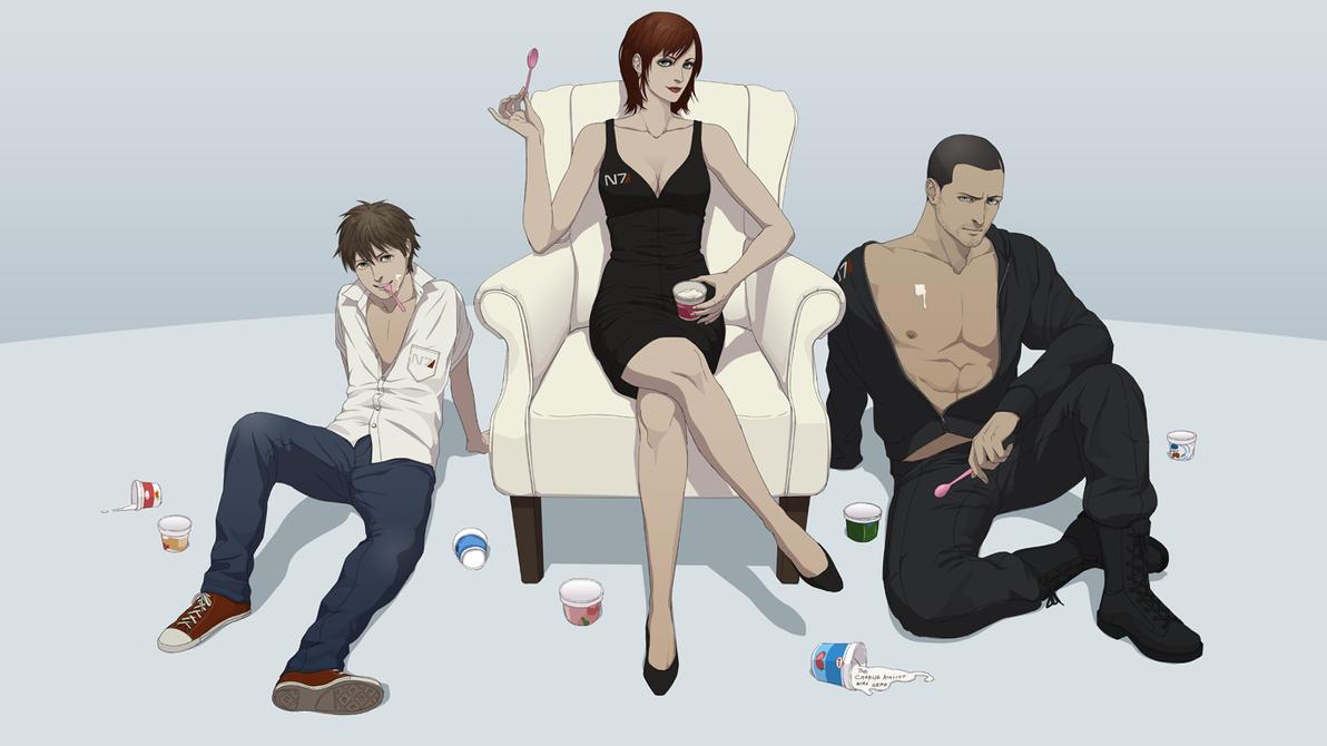 Mass Effect Yogurt Night by YukiMinamoto