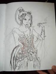pretty goth lady by Shmagmhar10