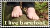 I live barefoot stamp by schmutz-fuss