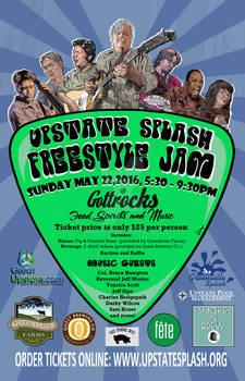 2016 Upstate Splash Freestyle Jam Poster