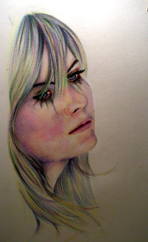 Sad Girl by BadgeMakesArt on DeviantArt