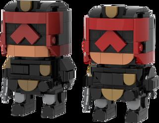 Judge Dredd and Judge Anderson [Movie Version] by DarkTailss