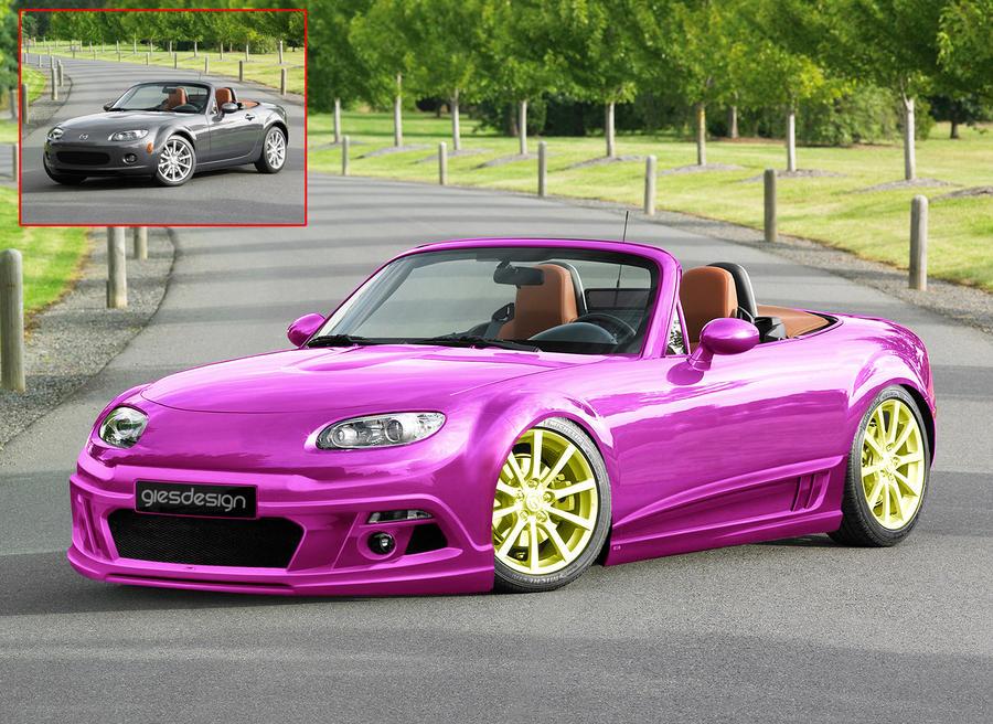 Mazda Mx5 Pink By Giesdesign On Deviantart