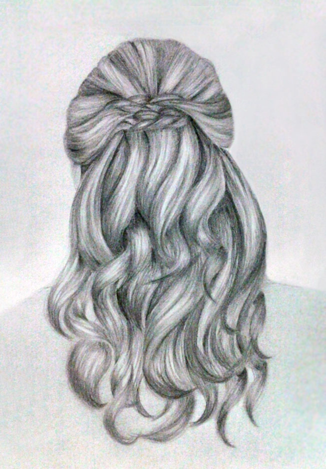 Hair sketch by kinannti on DeviantArt