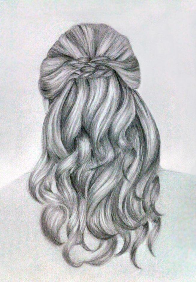 Hair Sketch By Kinannti On Deviantart