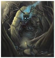 The Swamp Golem Emerges by AlexDRomero