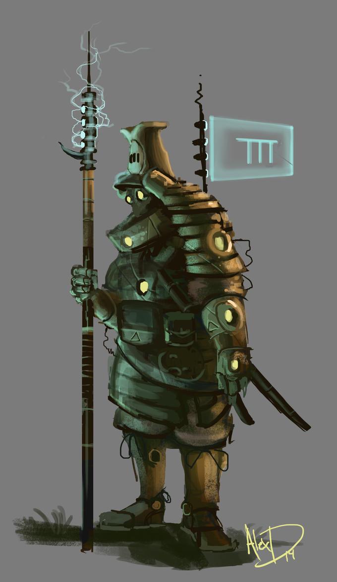 SteamPunk Futuristic Samurai by AlexDRomero on DeviantArt