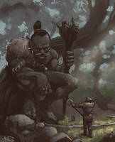 Sven meets the Giant by AlexDRomero