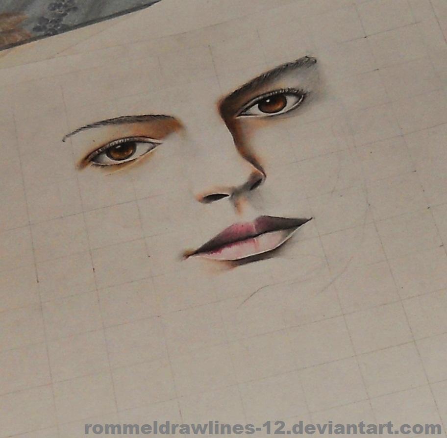 Anne Hathaway (Fantine) WIP By Rommeldrawlines-12 On
