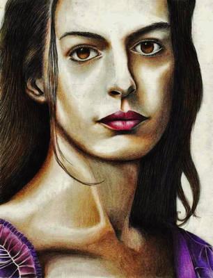 Anne Hathaway (Fantine) by rommeldrawlines-12