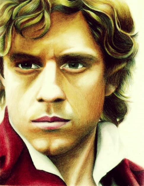 Aaron Tveit (Enjolras) by rommeldrawlines-12