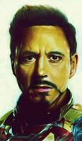Tony Stark by rommeldrawlines-12