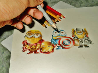 Minions Assemble by rommeldrawlines-12