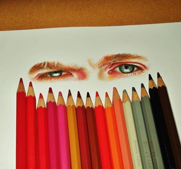 Niall Horan eyes by rommeldrawlines-12