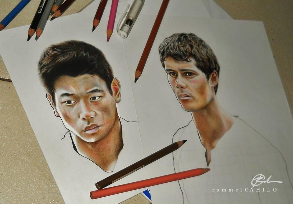 Minho+Thomas WIP by rommeldrawlines-12