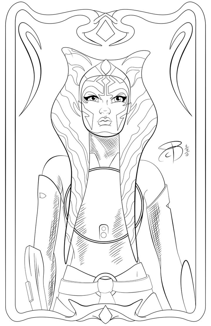 Inside out coloring book pages - Pinup Ahsoka Tano By Rcbrock