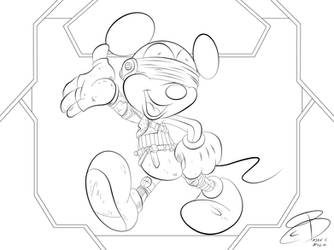 Coloring Pages- Mickey Jarrus