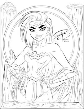 Coloring Pages - Wonder Woman