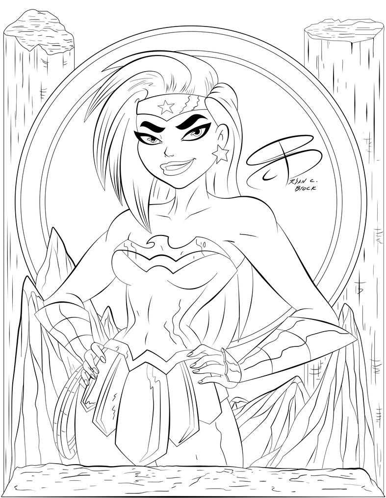 Coloring Pages - Wonder Woman by RCBrock on DeviantArt