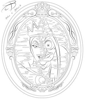 Coloring Pages - Evil Queen