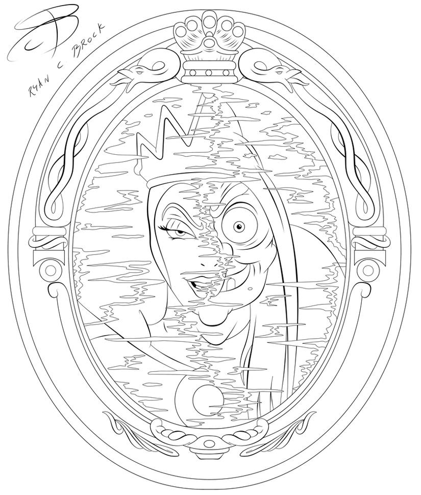 Coloring Pages - Evil Queen by RCBrock on DeviantArt