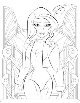 Coloring Pages - Black Canary