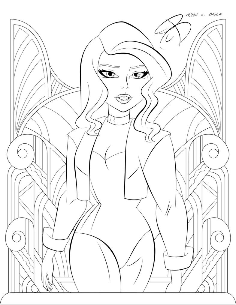 coloring pages black canary by rcbrock on deviantart