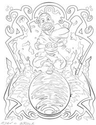 Coloring Pages - Aang