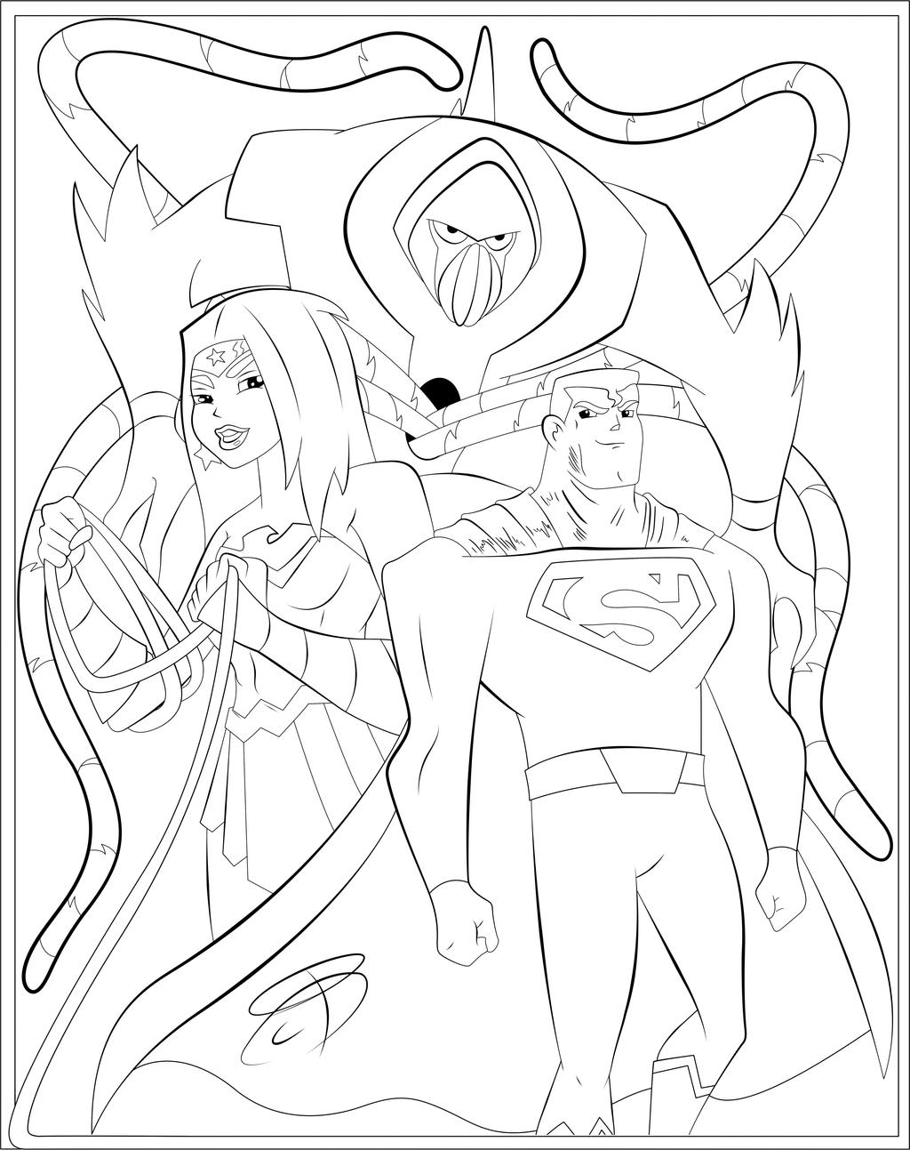 Coloring pages justice league -  Coloring Pages Justice League Action By Rcbrock