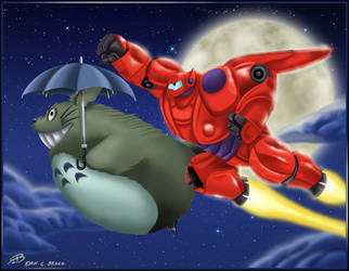 Big Hero Totoro by RCBrock