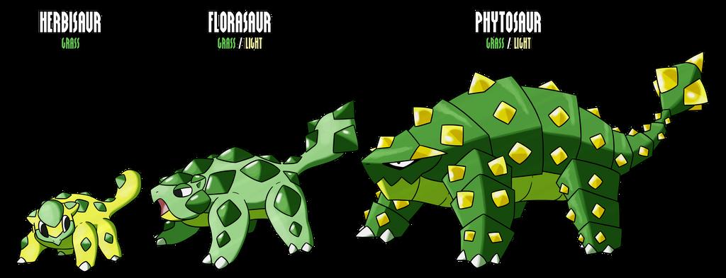 01-03 - Herbisaur - Florasaur - Phytosaur by miriakiko