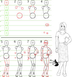 How to draw a female model