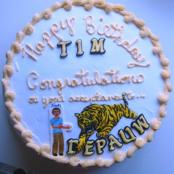 Happy Birthday Tim Cake Camera