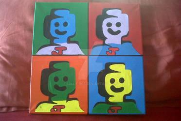 Lego Man Pop Art by Lolly-Bot