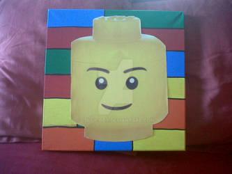Lego Head Pop Art by Lolly-Bot