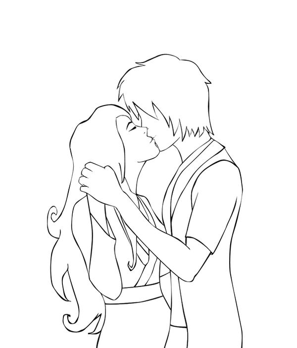Line Drawing Kiss : Kiss lineart by cindyrex on deviantart