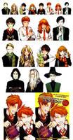 Harry Potter Lineup by BotanicaXu