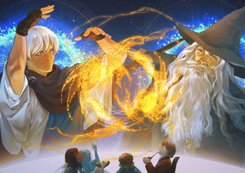 Cosmere x LotR - Hoid vs. Gandalf Fireworks Show