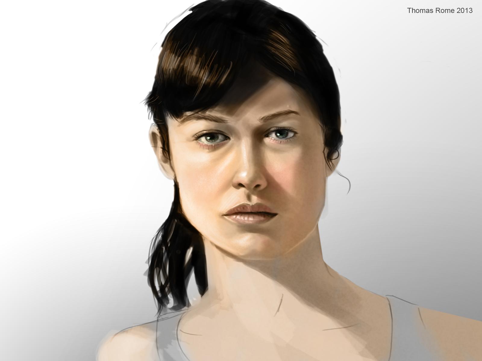 Olga Kurylenko (face practice) by ThomasRome on DeviantArt