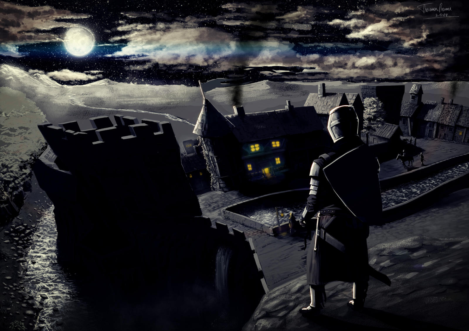 Medieval city/night - concept by ThomasRome