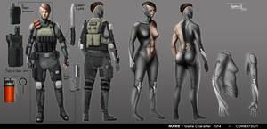 MARIE - Combat suit finale concept