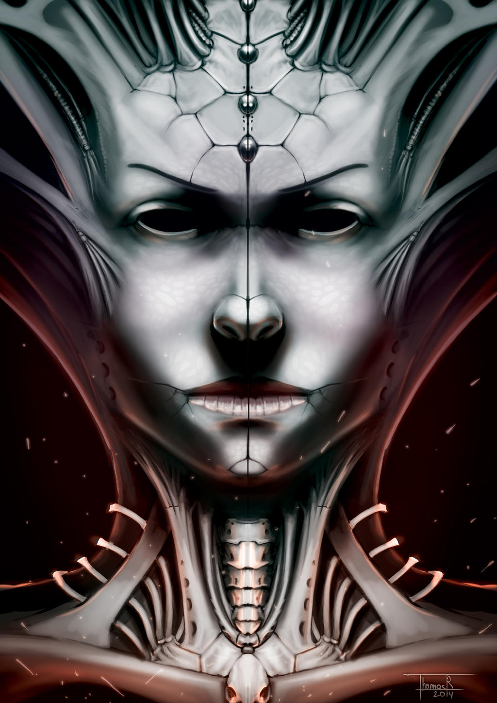 Insectoid Queen by ThomasRome