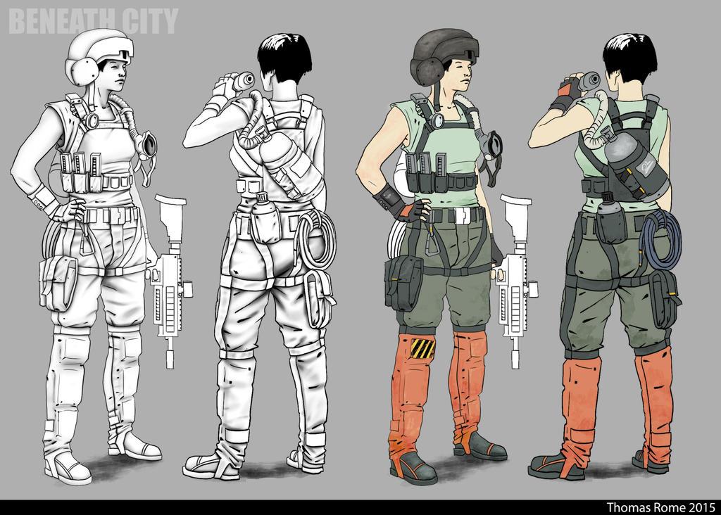 BEANEATH CITY - Superior level mercenary - process by ThomasRome