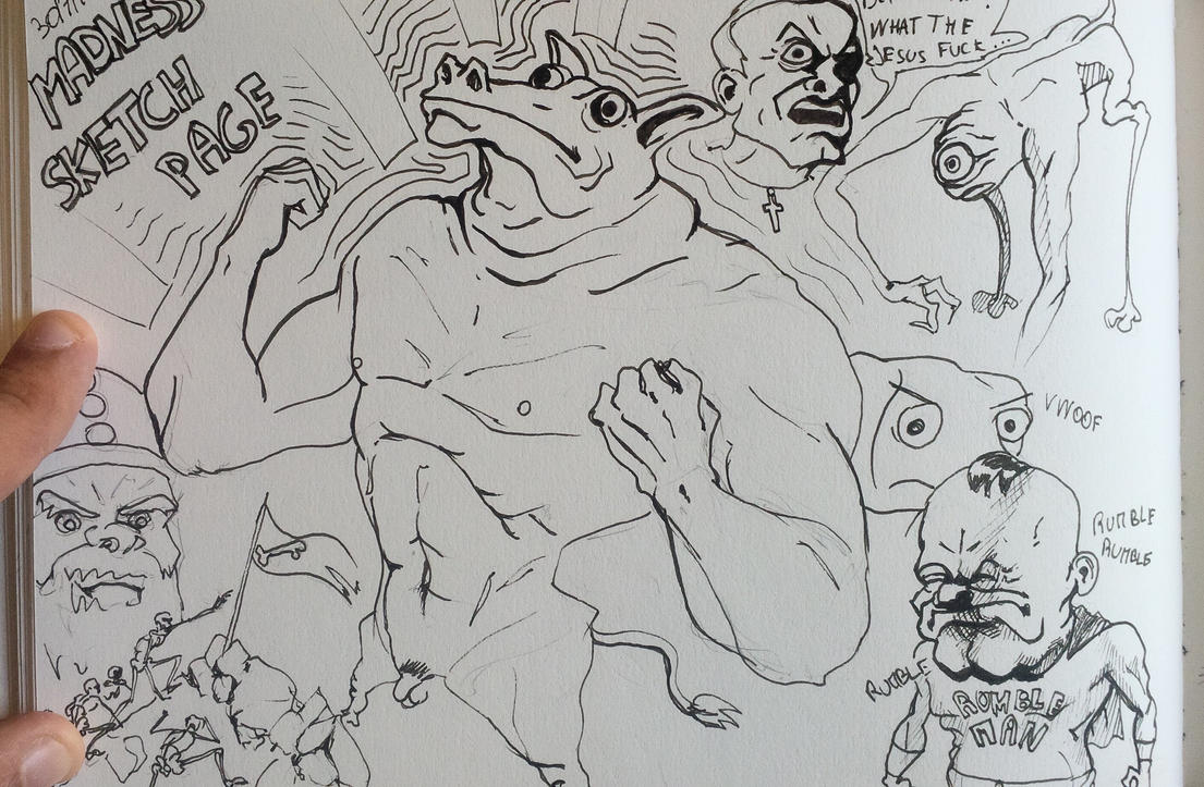 Madness Sketch Page 31-07-2015 by ThomasRome