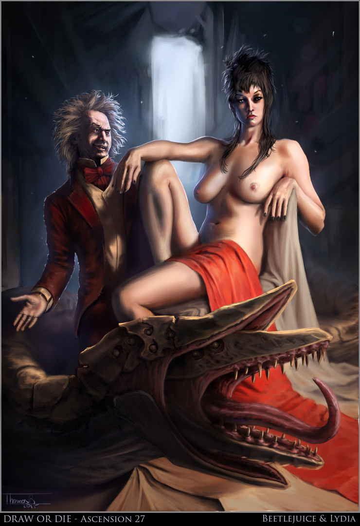 Beetlejuice and Lydia by ThomasRome