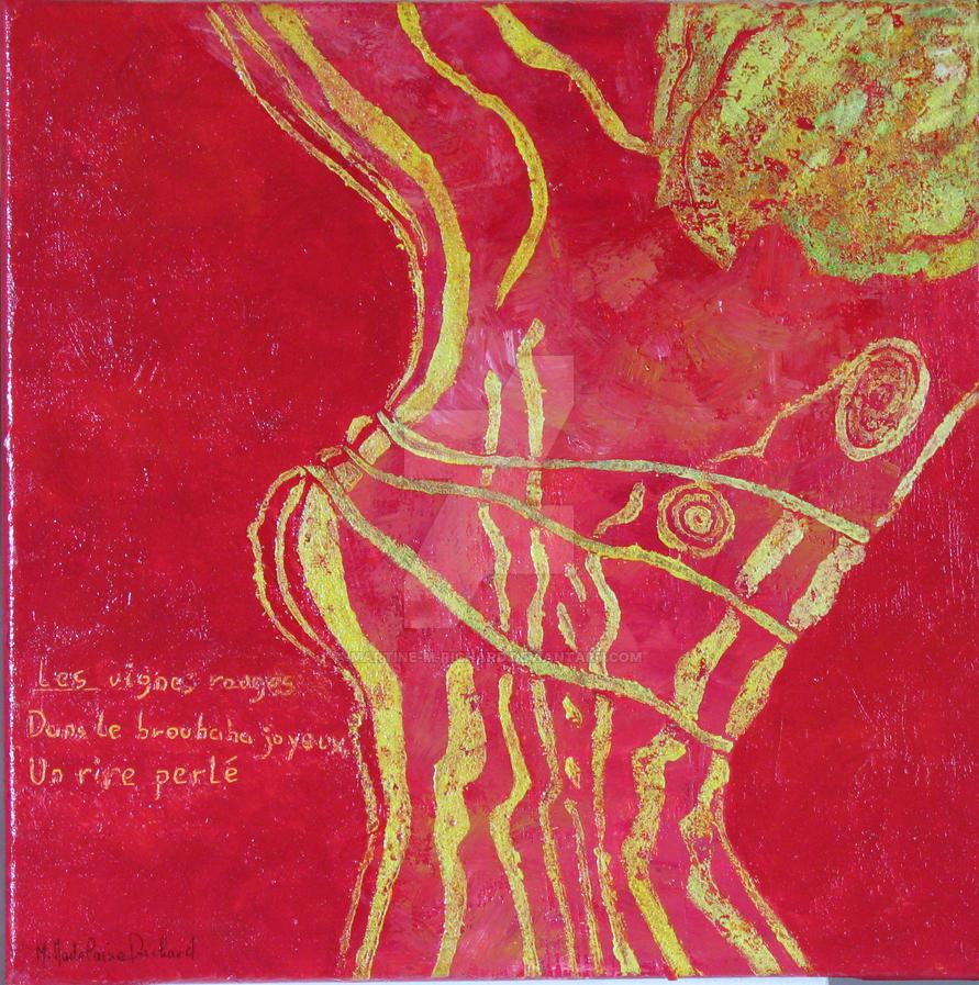 La vigne rouge by Martine-m-richard
