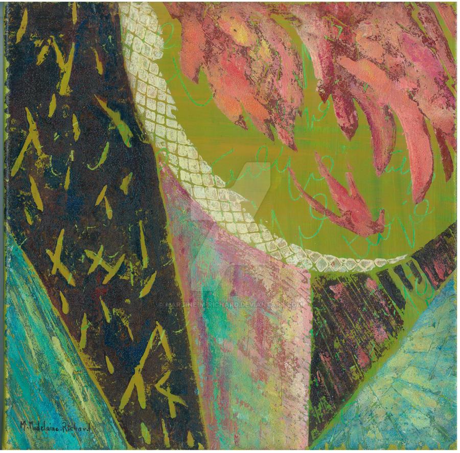 Tulipe verte by Martine-m-richard