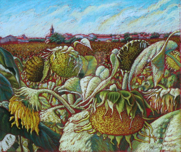 Les tournesols by Martine-m-richard