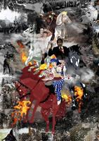 4 Horsemen Montage Poster by eosvector