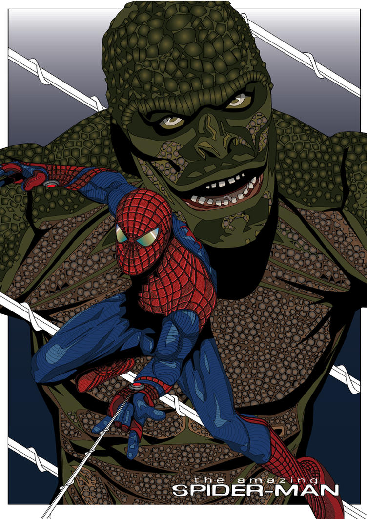 Spider-Man Vs Lizard 2012 by eosvector